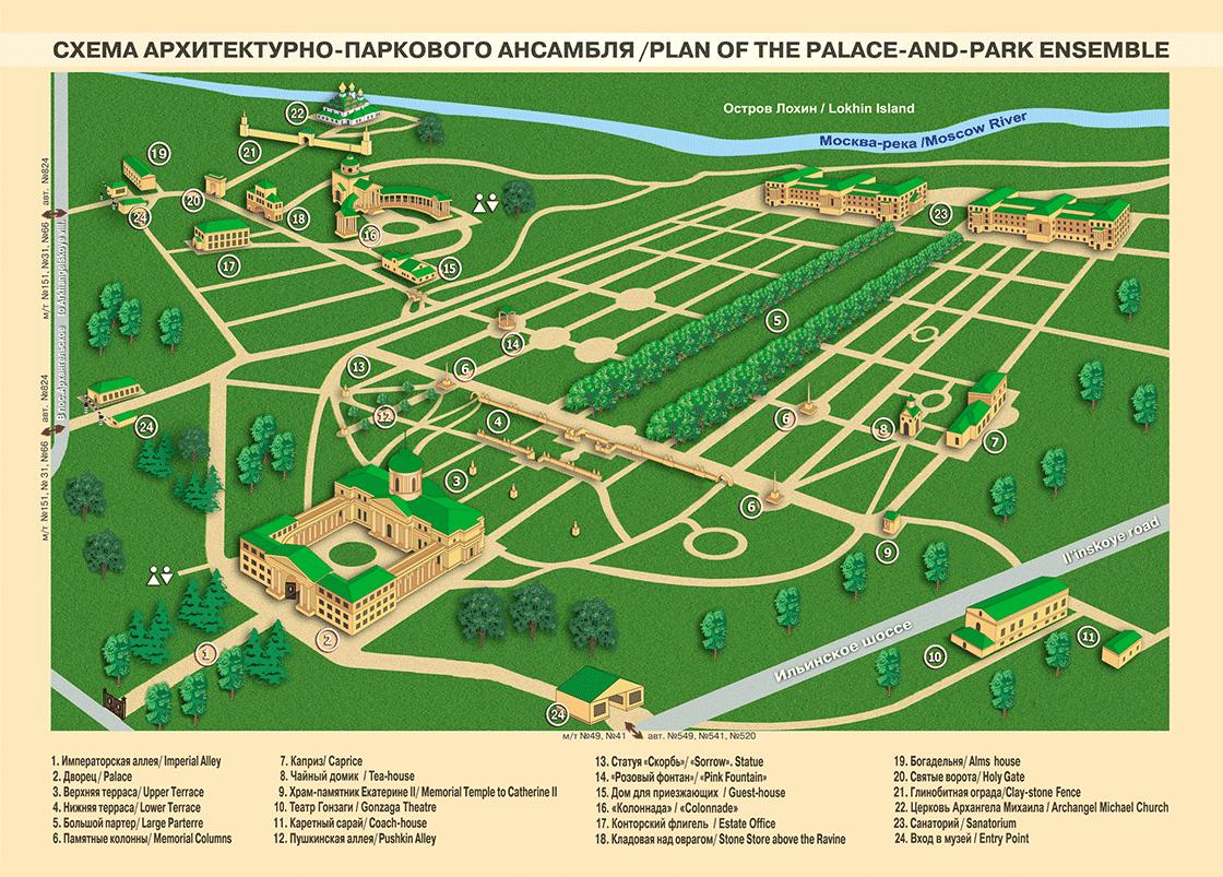 Схема Архитектурно-паркового ансамбля