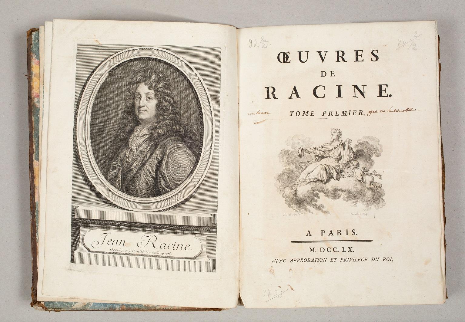 Racine, Jean Baptiste (1639-1699). Oeuvres de Racine.T.1. – Paris.1760